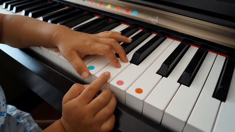 習い事-ピアノ-鍵盤-シール