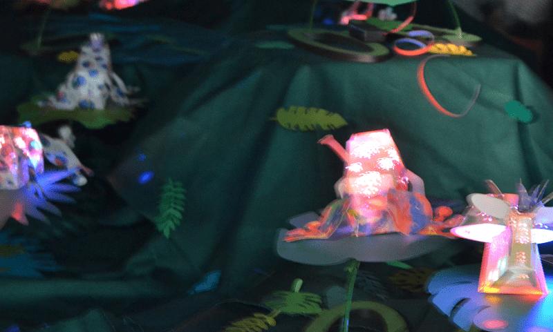 あかりの日-光のジャングル-LED発光