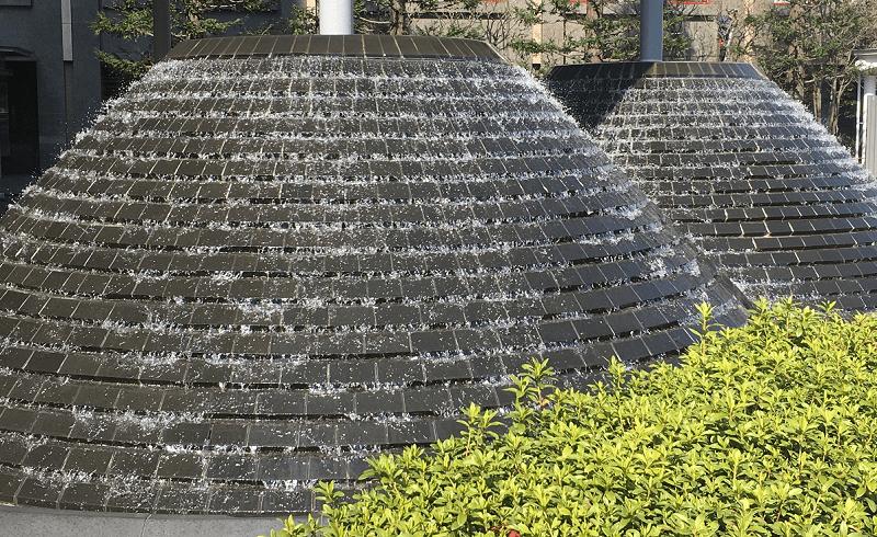 にわかラグビー-噴水